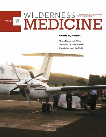 Volume 29, Number 1 - Wilderness Medical Society