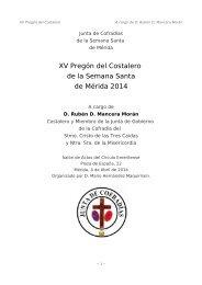 XV Pregón del Costalero de la Semana Santa de Mérida 2014