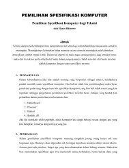 Pemilihan Spesifikasi Komputer bagi Teknisi - Kontak UGM