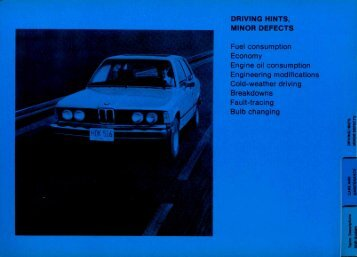 Driving Hints & Minor Defects