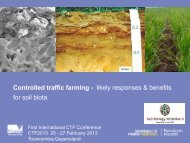 CTF Impacts on Soil Biology - Pauline Mele , Dept of ... - ACTFA
