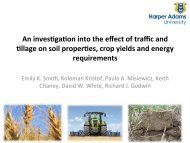 An investigation into the effect of traffic and tillage on soil ... - ACTFA