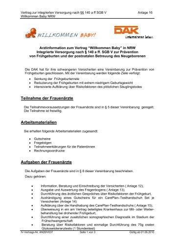 Infopaket Zum Vertrag Pdf 80 Kb