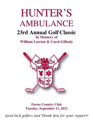 View the 2012 Golf Program Booklet - Hunter Ambulance