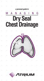 personal guide to Managing Dry Seal Chest Drainage - Hunter ...