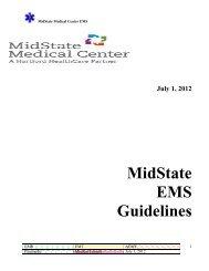 MidState EMS Guidelines - Hunter Ambulance
