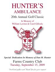 In Memory of William Lawton & Carol Gillooly - Hunter Ambulance