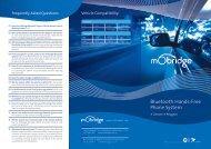 Citroen / Peugeot Bluetooth Brochure - mObridge
