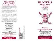 Download the 2013 Brochure & Registration Form - Hunter Ambulance
