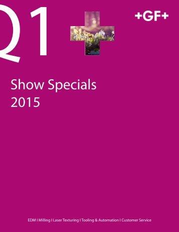 Q1 Show Specials (Updated 3.4.15)