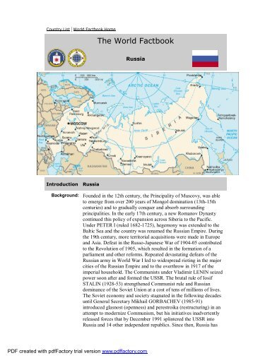 CIA - The World Factbook -- Russia - Alina Marriage Agency