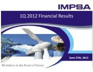 B) IMPSA - 1Q 2012 Earnings Presentation