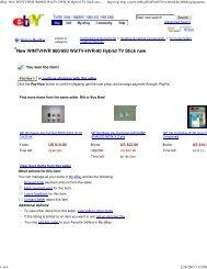 eBay: New WINTVHVR 900/950 WinTV-HVR-90 Hybrid TV Stick new ...