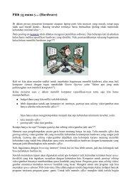 Pilih yg mana y... (Hardware) - Kontak UGM