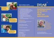 Qualitätsgrundsätze des DVLAB e.V. für die Alten