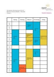 Interaktive Medien 1. Semester, Gruppe a - Hochschule Augsburg