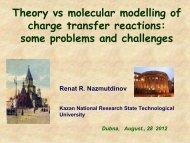 Theory vs molecular modelling of charge transfer ... - elch.chem.msu.ru