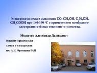 Электрохимическое окисление CO, CH 3 OH ... - elch.chem.msu.ru