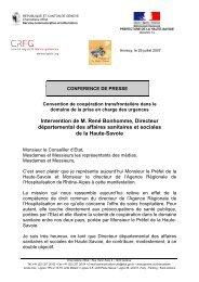 Intervention de M. René Bonhomme, Directeur ... - CRFG