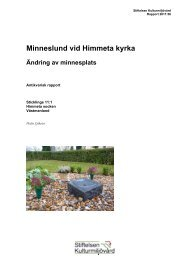 Minneslund vid Himmeta kyrka - Stiftelsen Kulturmiljövård