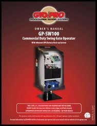 GTO/PRO GP-SW100 - Gate Openers | Access Controls