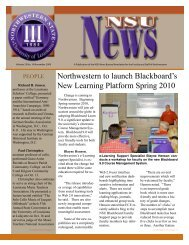 NSU News Nov.09 - Northwestern State University