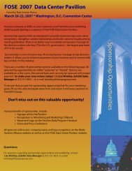 Sponsorship Brochure/Application and Contract - The Expo Group
