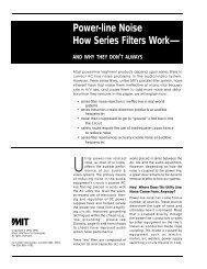 Why Parallel Filters? - AllegroSound
