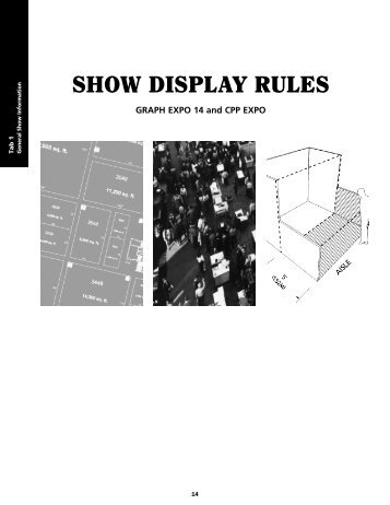 Show Display Rules and Hanging Sign Guidelines