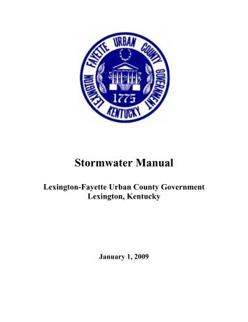 Stormwater Manual - Pima County Flood Control District