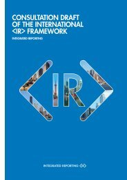 Consultation Draft of the International  Framework - The IIRC