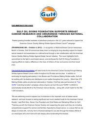 gulf oil giving foundation supports breast cancer research and ...