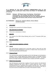 minutes - Poole Harbour Commissioners