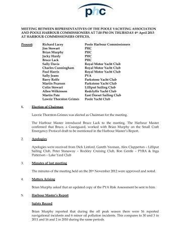 April 2013 - Poole Harbour Commissioners