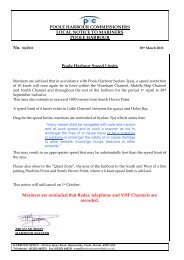 POOLE HARBOUR COMMISSIONERS LOCAL NOTICE TO ...