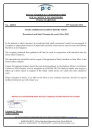 Incident Report Form (Recreational) - Poole Harbour Commissioners