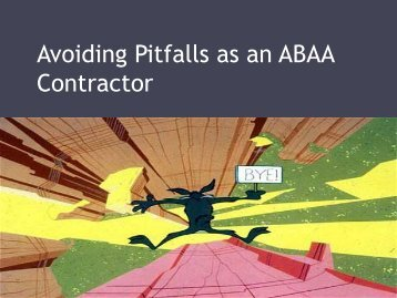 George Moehrle - Avoiding Pitfalls as an ABAA Contractor