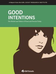 INTENTIONS - Girl Scouts of the USA