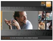 2011 In-House Professional Development Program - The Ad Club