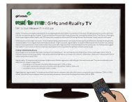 Real to me: Girls and Reality TV/Fact Sheet - Girl Scouts of the USA