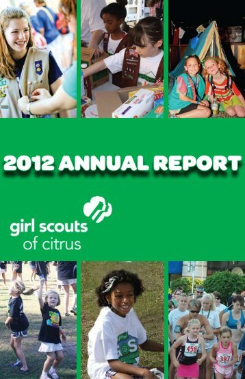 2012 ANNUAL REPORT - Girl Scouts of Citrus Council