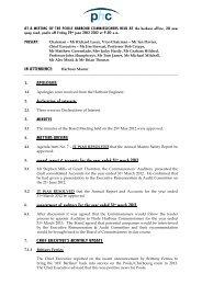 website mins june mins 2012 - Poole Harbour Commissioners
