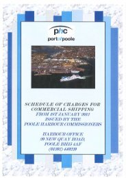 Commercial Rates and Charges 2012 - Poole Harbour ...