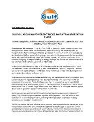 Gulf Oil Adds LNG-Powered Trucks To Its Transportation Fleet