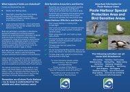 Bird Sensitive Areas leaflet - Poole Harbour Commissioners