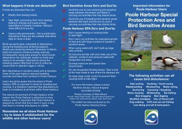 Bird Sensitive Areas leaflet - Poole Harbour Commissioners