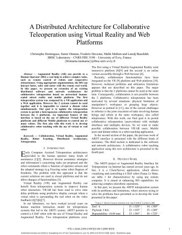 A Distributed Architecture for Collaborative Teleoperation using ...