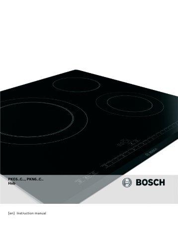 PKE6..C.., PKN6..C.. Hob - Appliances Online