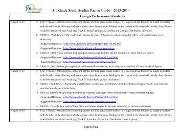 5 grade social studies pacing guide u20ac u201c 2013 2014 rcboe org rh yumpu com Houghton Mifflin Harcourt Publishing Company Houghton Mifflin Language Arts