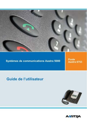 Aastra 6753 User Guide